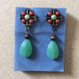 Avon brassy earrings